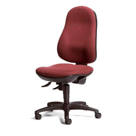 Bürodrehstuhl COMFORT I ohne Armlehnen Bordeaux | ohne Armlehnen (optional) | Polyamid schwarz