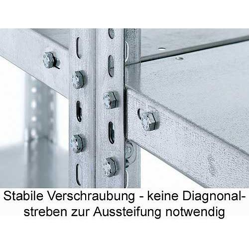 Komplettangebot - Schraubregal SR 4000 - 2 Felder