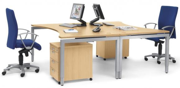 Schreibtische 4-Fuß Comfort MULTI MODUL