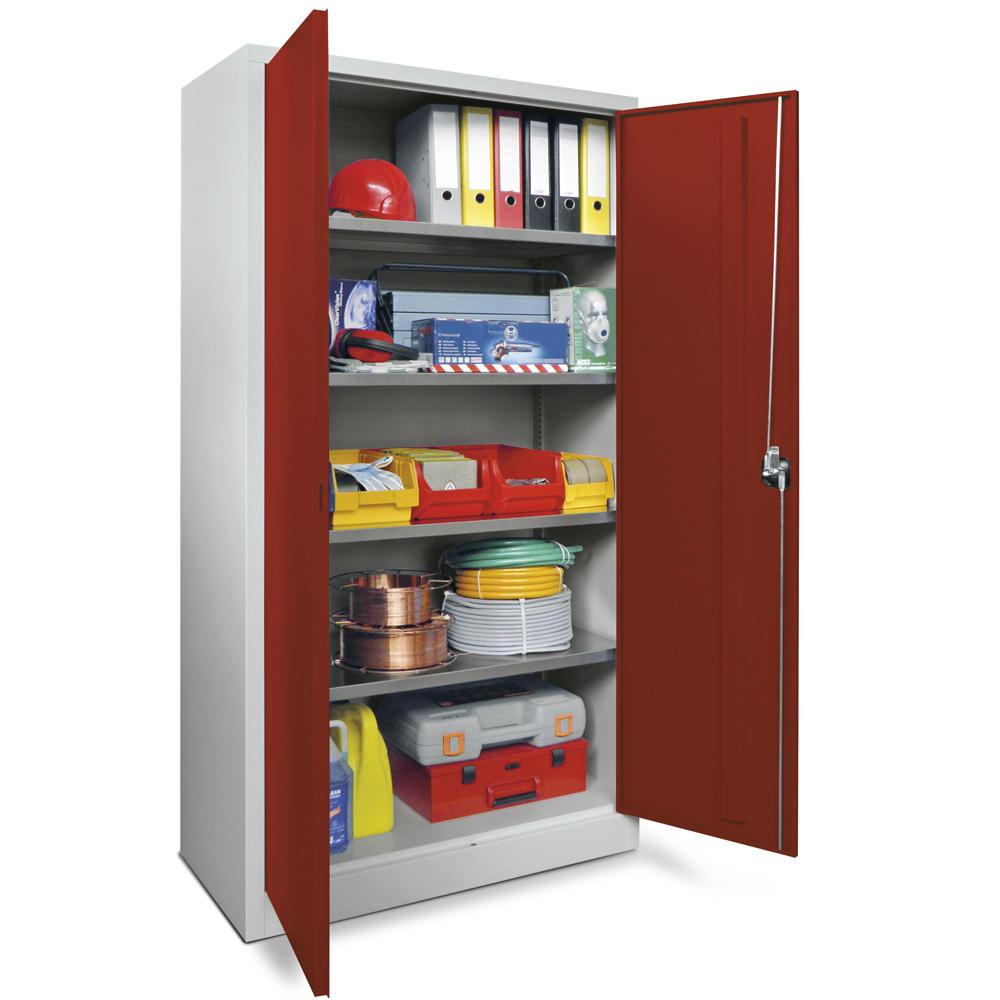 material stahlschrank rubinrot ral 3003 1000 400 lichtgrau ral 7035 bequem online. Black Bedroom Furniture Sets. Home Design Ideas
