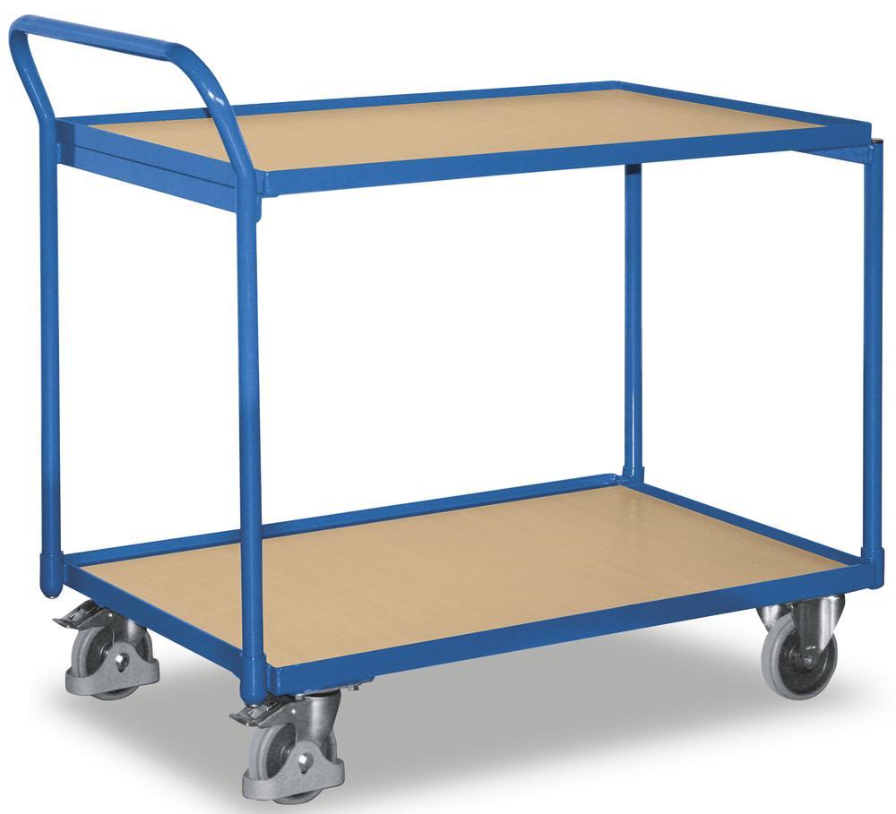 tischwagen mit erh htem ergo schiebegriff bequem online. Black Bedroom Furniture Sets. Home Design Ideas