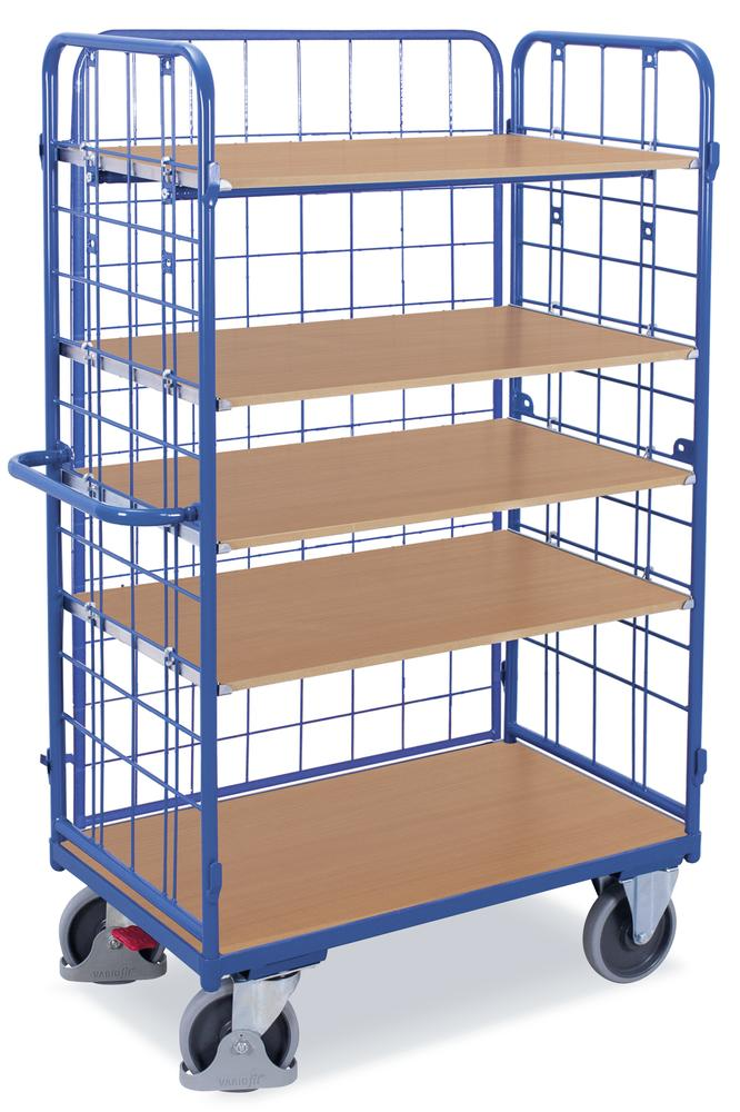 etagenwagen mit 1 flexiblen l ngswand mit 5 b den bequem online bestellen bei delta v. Black Bedroom Furniture Sets. Home Design Ideas