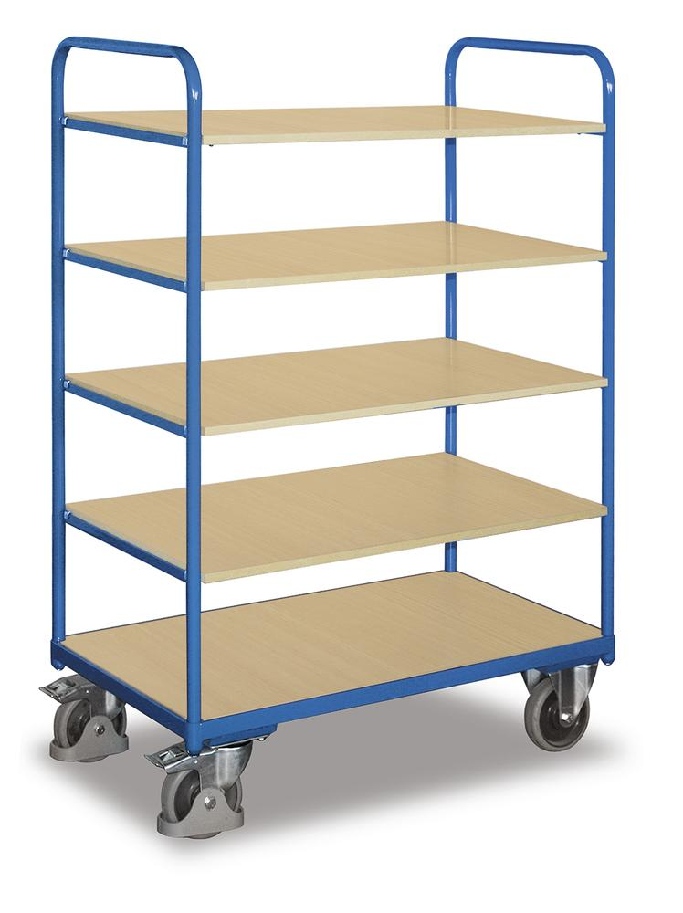 etagenwagen mit 5 b den 1060 bodenma e b 600 x l 1000 mm mit 5 b den 1060 bequem online. Black Bedroom Furniture Sets. Home Design Ideas
