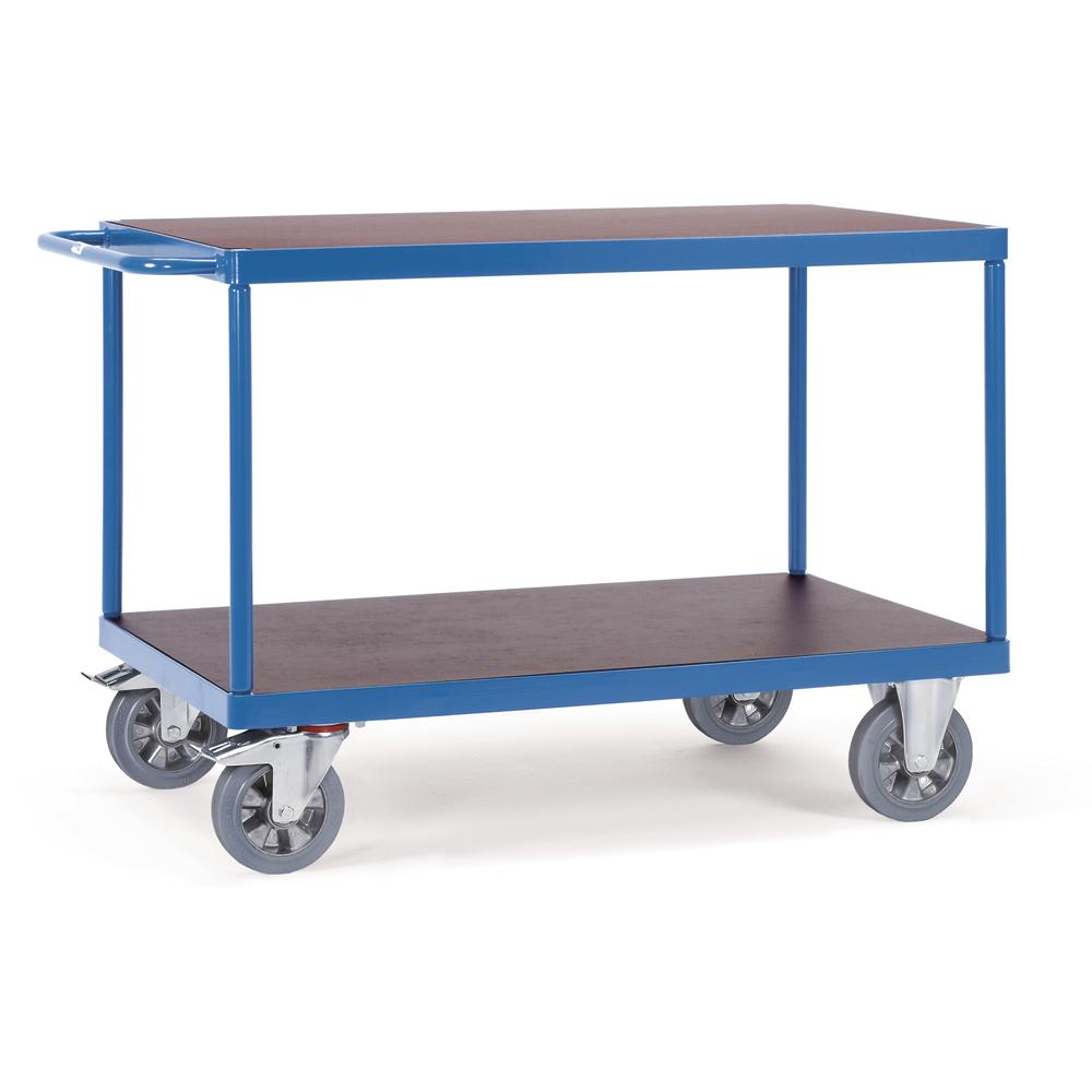 tischwagen 1200 kg mit 2 b den aus holz bequem online bestellen bei delta v b rom bel. Black Bedroom Furniture Sets. Home Design Ideas