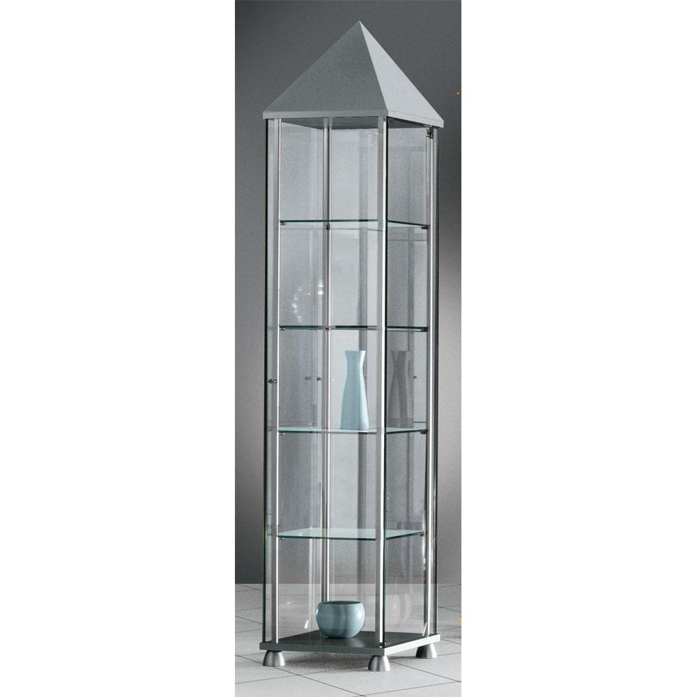 ganzglas standvitrine 430 standvitrine sichtb den dekor silber frei bordsteinkante bequem. Black Bedroom Furniture Sets. Home Design Ideas