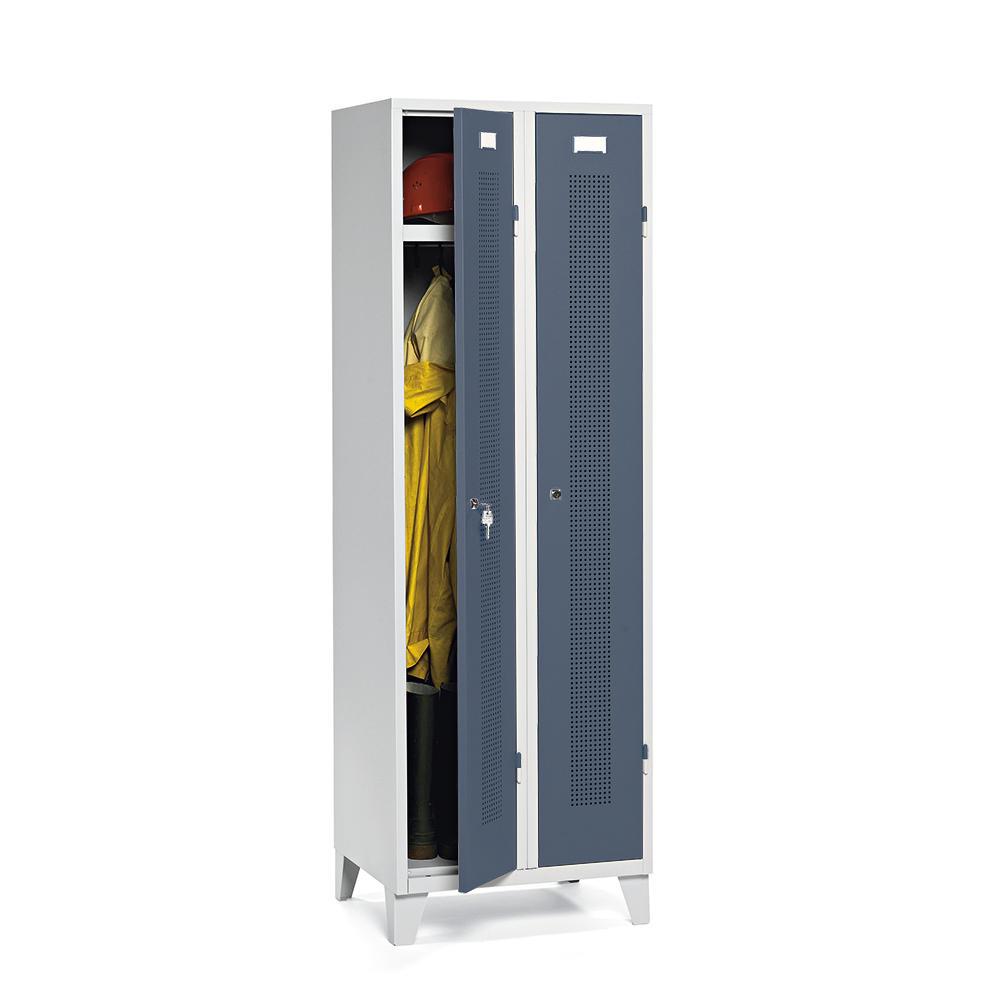 Garderoben-/Stahlspind SYSTEM SP1 Blaugrau RAL 7031