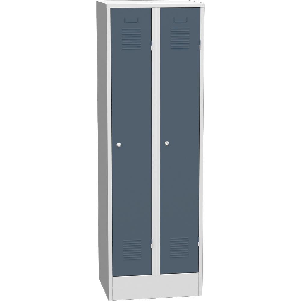 Garderoben-Stahlspind Delta PROTECT Blaugrau RAL 7031
