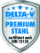 DELTA-V Premium Stahl zertifiziert nach DIN 10130