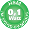 HSM 0,1 Watt im Stand-By-Modus