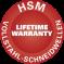 HSM Lifetime Warranty - Vollstahl-Schneidwellen