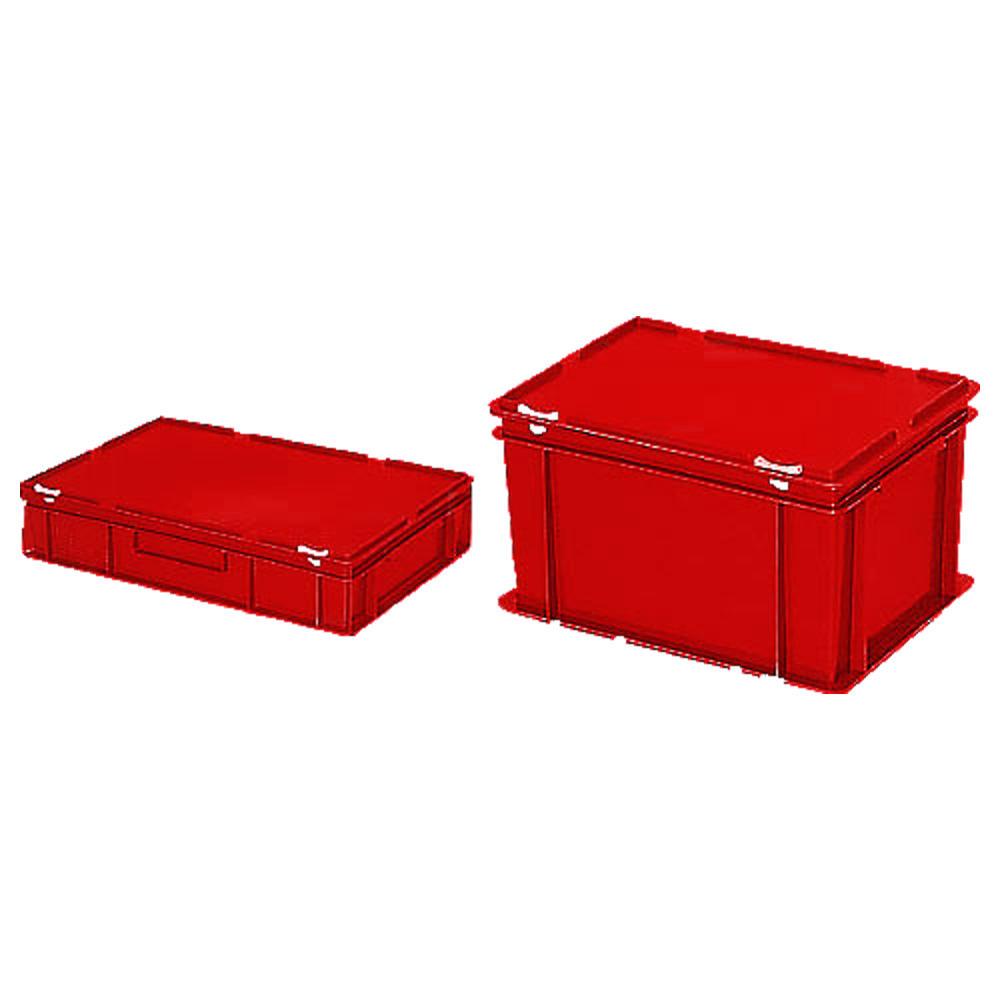euronorm beh lter mit deckel rot b 300 x h 330 x l 400 mm 31 00 bequem online bestellen. Black Bedroom Furniture Sets. Home Design Ideas