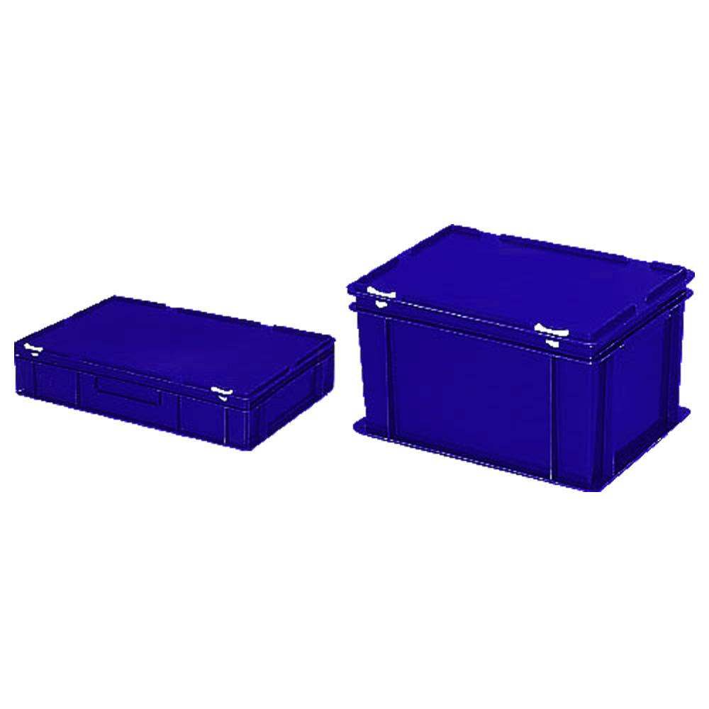 euronorm beh lter mit deckel blau b 300 x h 330 x l 400 mm 31 00 bequem online bestellen. Black Bedroom Furniture Sets. Home Design Ideas