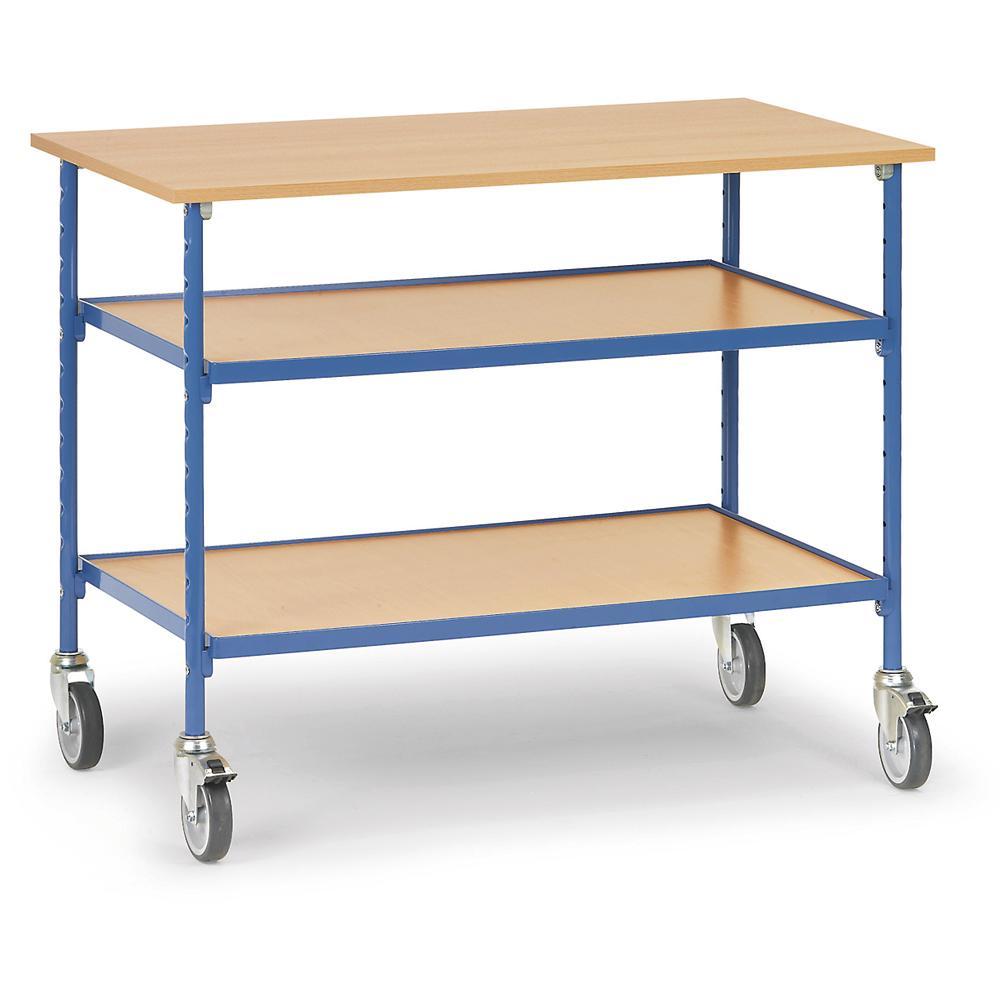 rolltisch 150 kg mit 3 b den aus holz 3 b den aus holz bequem online bestellen bei delta v. Black Bedroom Furniture Sets. Home Design Ideas