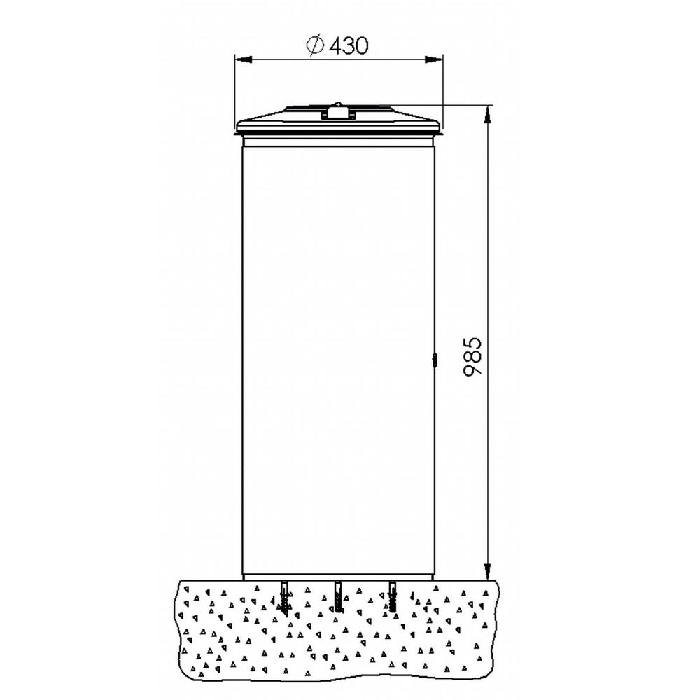 wertstoffsammler anthrazit eisenglimmer db 703 zum aufd beln bequem online bestellen bei. Black Bedroom Furniture Sets. Home Design Ideas