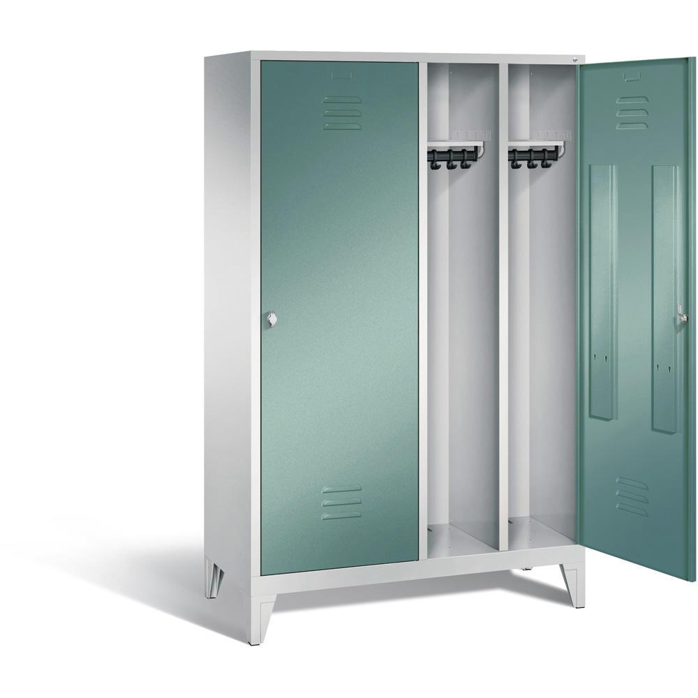 garderobenschrank color wasserblau ral 5021 2 t ren 4 abteile bequem online bestellen bei. Black Bedroom Furniture Sets. Home Design Ideas