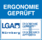 Ergonomie geprüft vom LGA Nürnberg