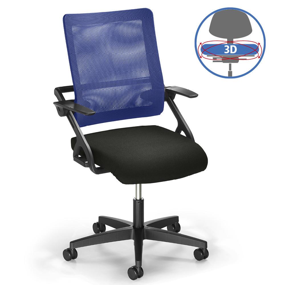 Bürodrehstuhl SITNESS 20 20D NET   bewegliche Sitzfläche   bequem ...