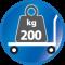 Belastbar bis 200 kg