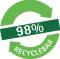 98% recyclebar