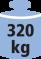Bis zu 320 kg Flächentraglast, bei gleichmäßig verteilter Last!