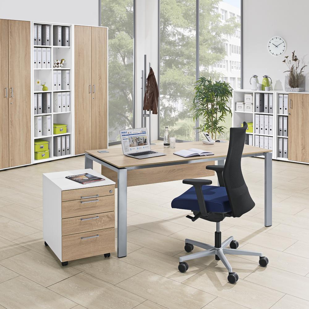 schreibtische basic evo bequem online bestellen bei delta v b rom bel b roeinrichtung. Black Bedroom Furniture Sets. Home Design Ideas