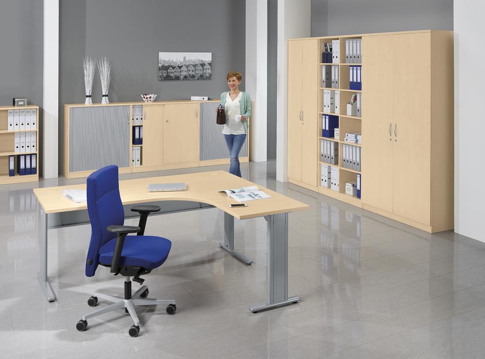 schreibtische basic m mutli modul bequem online bestellen bei delta v b rom bel. Black Bedroom Furniture Sets. Home Design Ideas