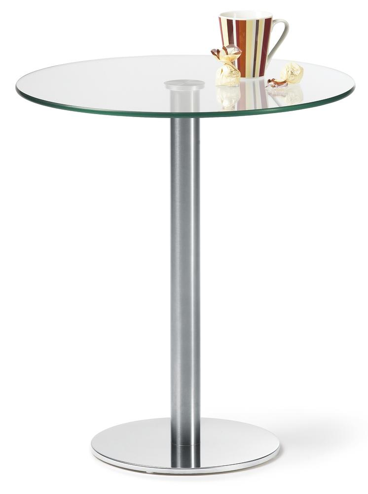 Glazen tafels met edelstaal onderstel gemakkelijk online bestellen bij delta v - Stoelen voor glazen tafel ...