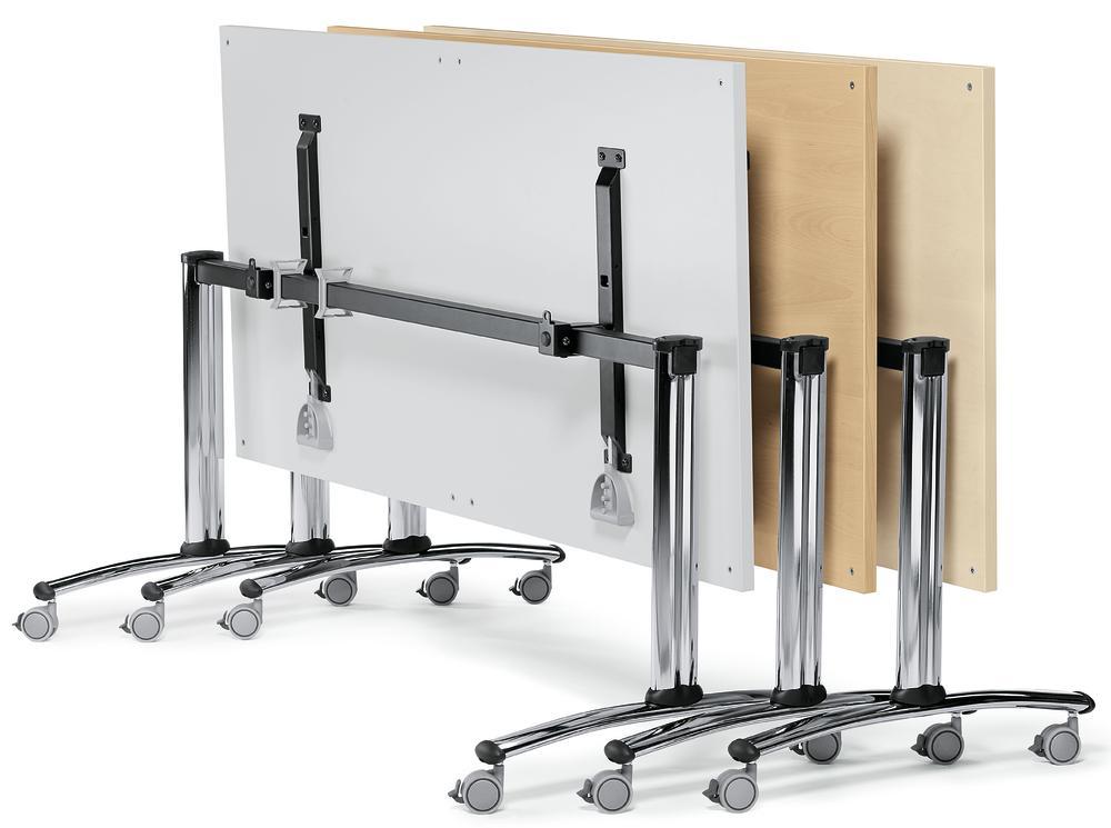 Klapptisch modul mit rollen bequem online bestellen bei for Esszimmerstuhle mit armlehne und rollen