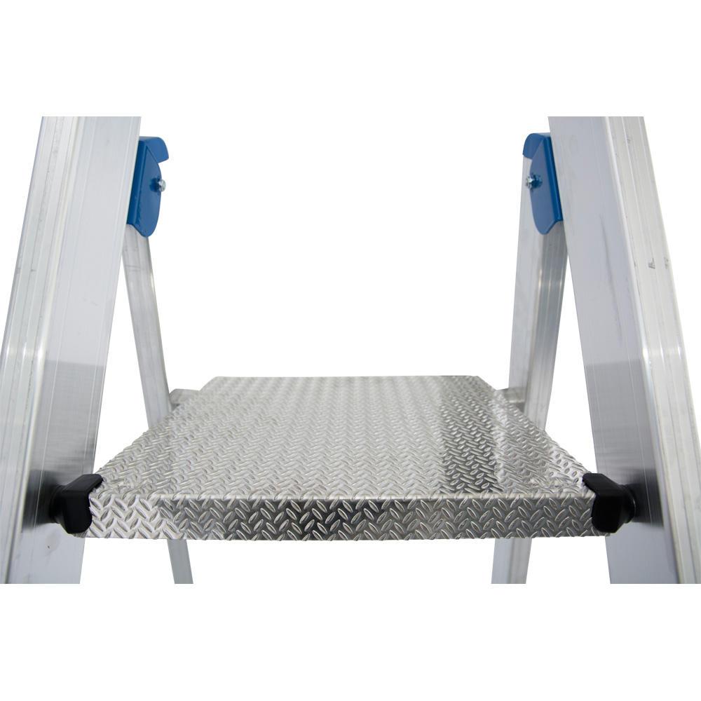 stufen stehleiter stabilo fahrbar 8 stufen 3880 bequem online bestellen bei delta v. Black Bedroom Furniture Sets. Home Design Ideas