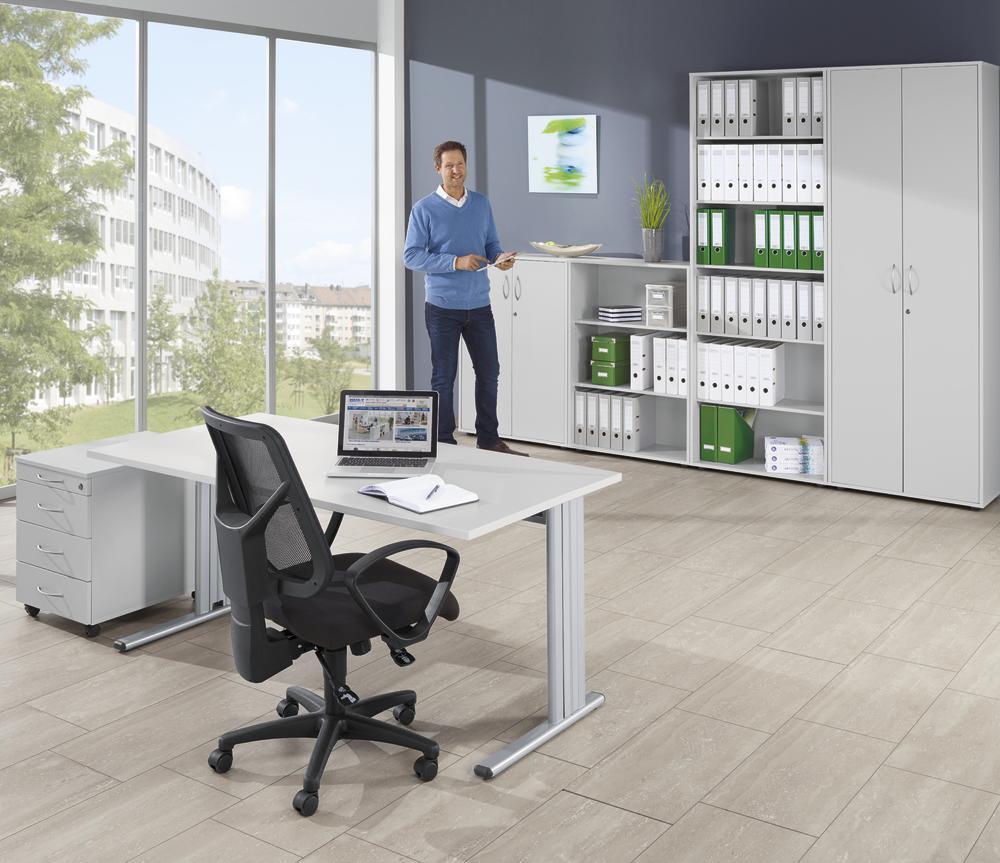 schreibtische combi line bequem online bestellen bei delta v b rom bel b roeinrichtung. Black Bedroom Furniture Sets. Home Design Ideas