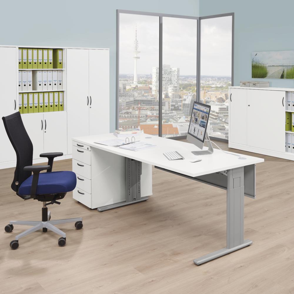 schreibtische comfort m bequem online bestellen bei delta v b rom bel b roeinrichtung. Black Bedroom Furniture Sets. Home Design Ideas