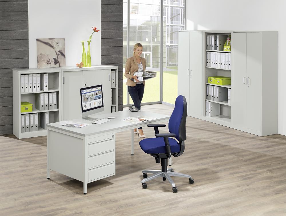 schreibtische mit h ngecontainern base line bequem online bestellen bei delta v b rom bel. Black Bedroom Furniture Sets. Home Design Ideas